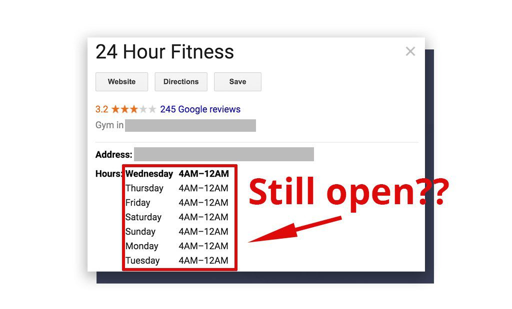 24 Hour Fitness gym hours of operation during COVID-19