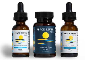 Peace River CBD logo on products