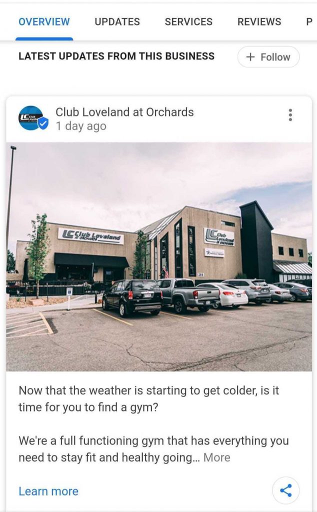 Club Loveland at Orchard GMB Post Mobile