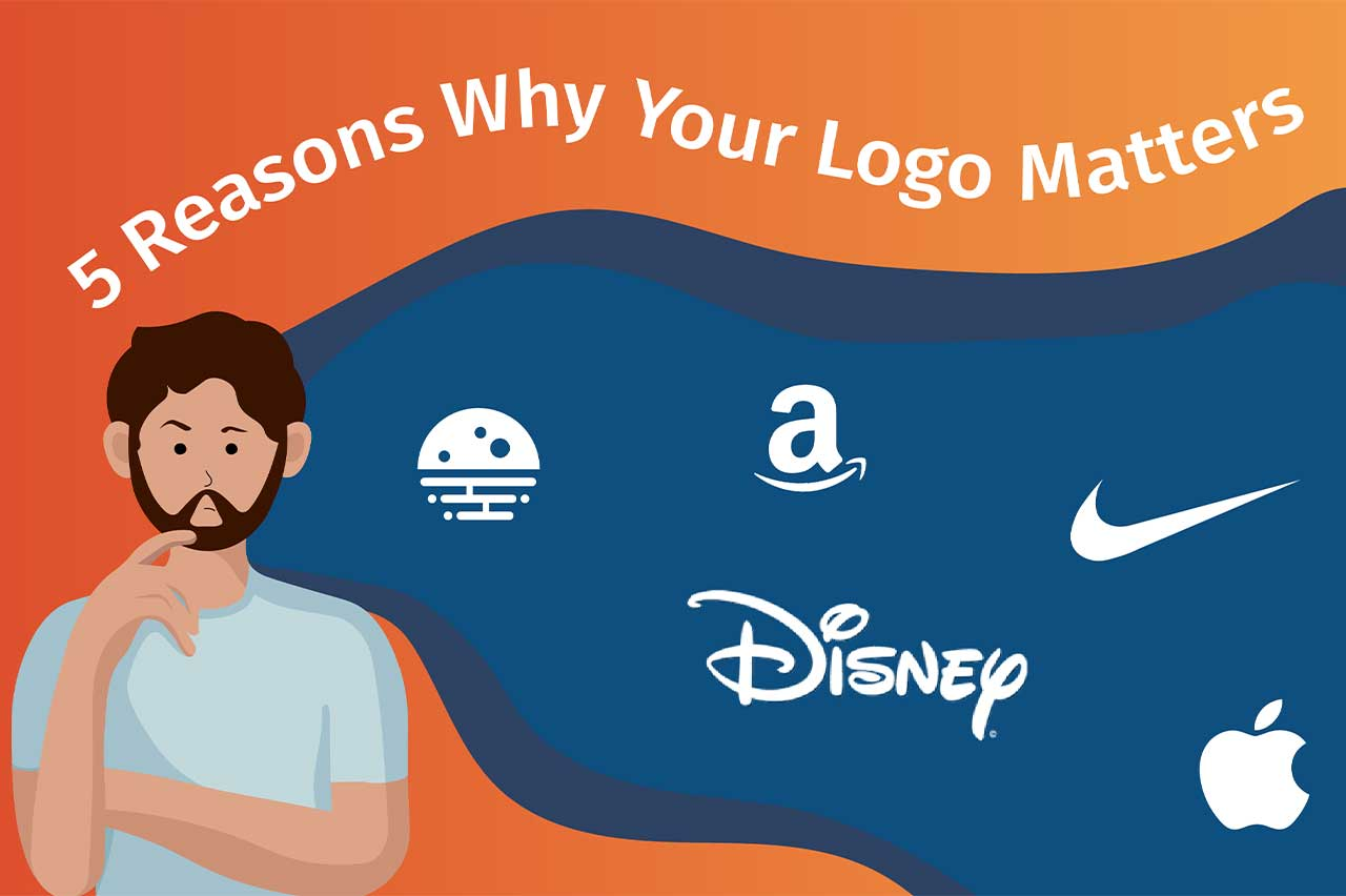 Man thinking about why logos matter