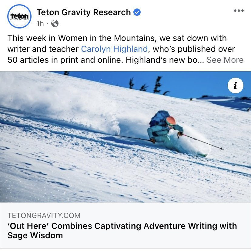 Teton Gravity Research Facebook Post