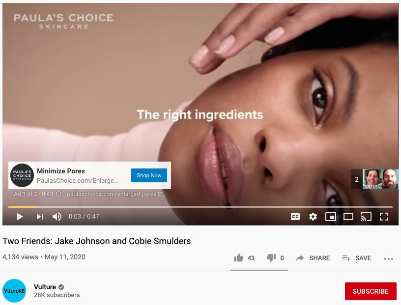 Paula's Choice Youtube ad